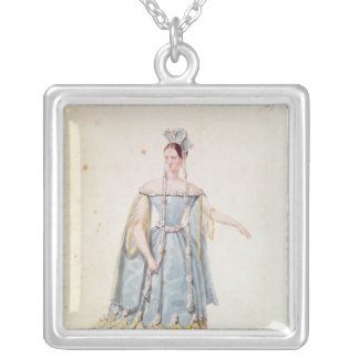 Mademoiselle Georges in 'Isabeau de Baviere' Silver Plated Necklace