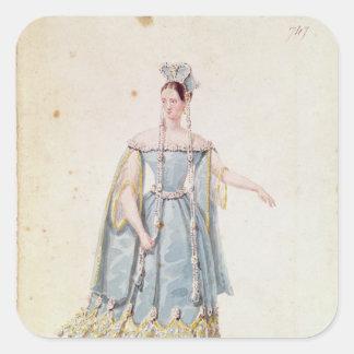 Mademoiselle Georges in 'Isabeau de Baviere' Square Sticker