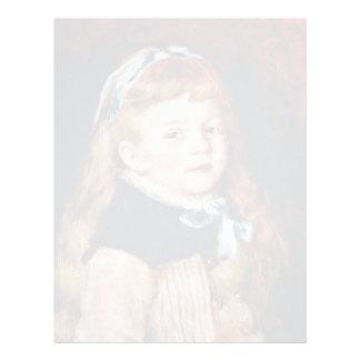 Mademoiselle Grimprel con la banda azul del pelo Membrete Personalizado