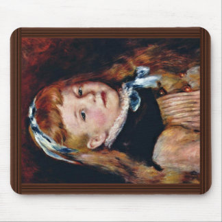 Mademoiselle Grimprel With Blue Hair Band Mouse Pad