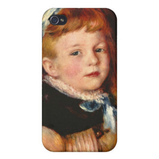 Mademoiselle Grimprel with blue hair-band - Renoir iPhone 4 Case