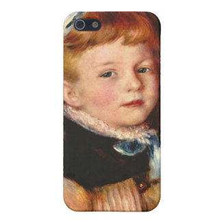 Mademoiselle Grimprel with blue hair-band - Renoir Cover For iPhone 5