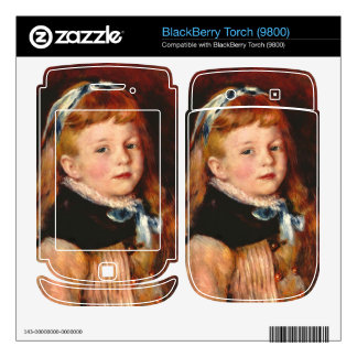 Mademoiselle Grimprel with blue hair-band - Renoir BlackBerry Torch Decal