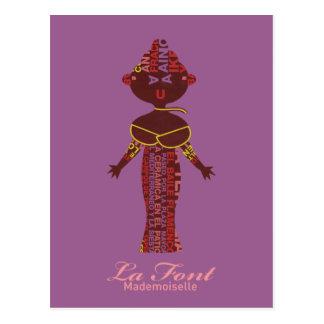 Mademoiselle La Font Postcard