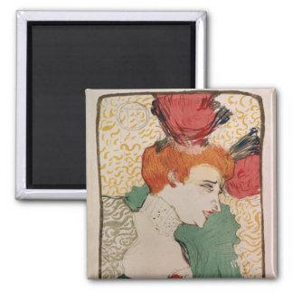 Mademoiselle Marcelle Lender, 1895 2 Inch Square Magnet