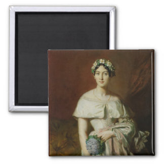 Mademoiselle Marie-Therese de Cabarrus, 1848 2 Inch Square Magnet