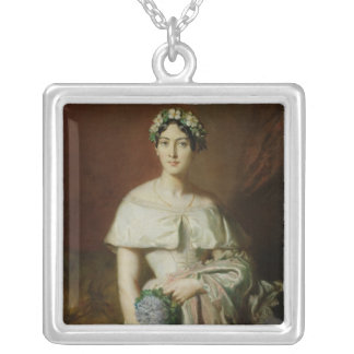 Mademoiselle Marie-Therese de Cabarrus, 1848 Square Pendant Necklace