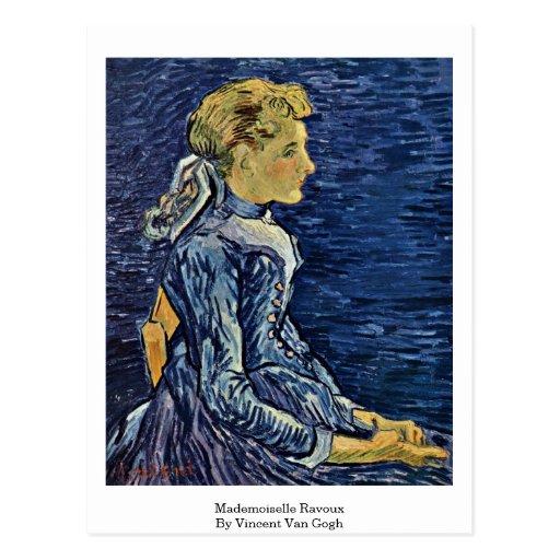 Mademoiselle Ravoux de Vincent van Gogh Postal