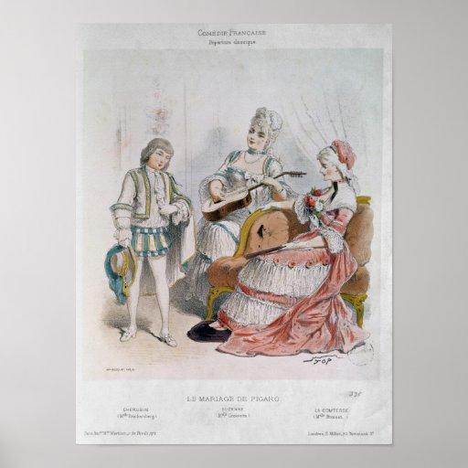 Mademoiselle Reichemberg as Cherubin Posters