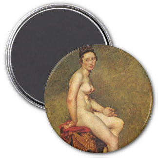 Mademoiselle Rose 3 Inch Round Magnet
