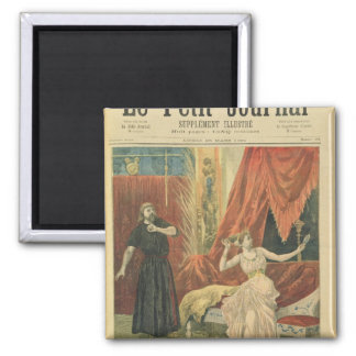 Mademoiselle Sibyl Sanderson  and Monsieur Jean 2 Inch Square Magnet