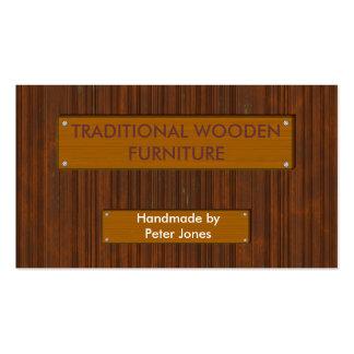 Madera 4 tarjetas de visita de madera del efecto
