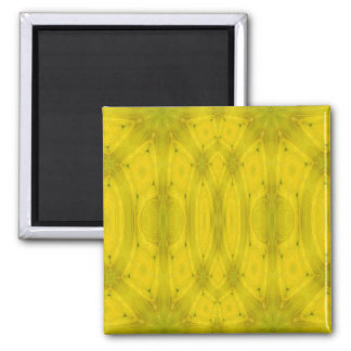 Madera abstracta amarilla imán cuadrado