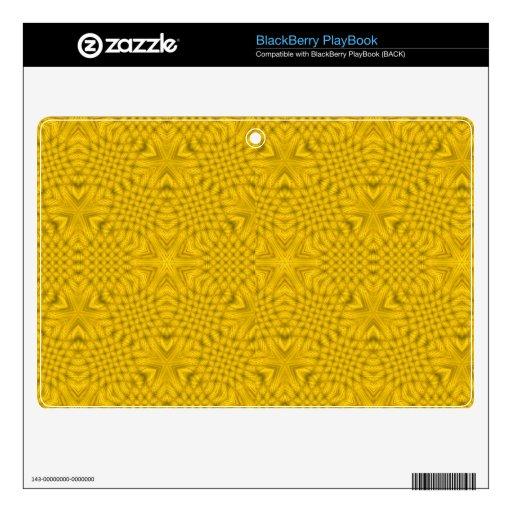 Madera abstracta amarilla skins para BlackBerry