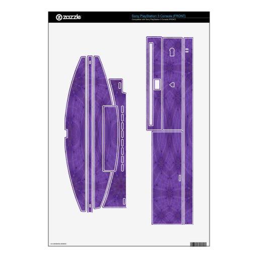 Madera abstracta púrpura consola PS3 calcomanía