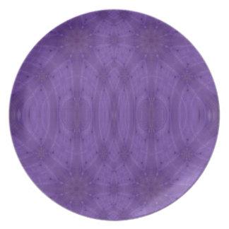 Madera abstracta púrpura platos para fiestas