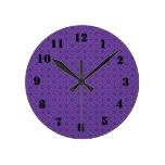 Madera abstracta púrpura relojes de pared