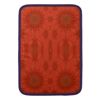 Madera abstracta roja funda  MacBook