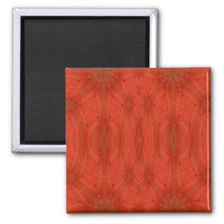 Madera abstracta roja imán cuadrado