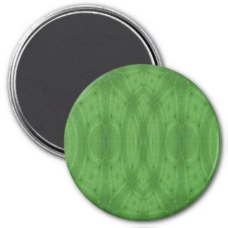 Madera abstracta verde imán redondo 7 cm