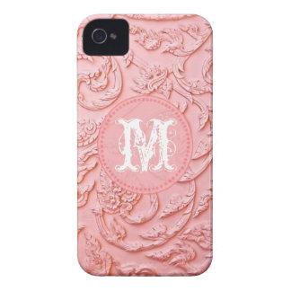 Madera afiligranada rosada que talla el caso del iPhone 4 Case-Mate cárcasa