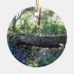 Madera amarilla del Bluebell, madera del parque de Adorno Redondo De Cerámica