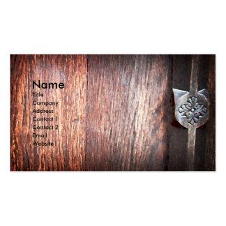 Madera antigua, plantilla de la tarjeta de visita