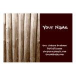 Madera apenada cabaña de madera rústica del vintag tarjeta de visita