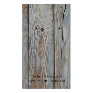 Madera azul del granero del trullo rústico del tarjetas de visita