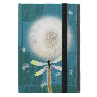 Madera azul rústica del granero de la libélula del iPad mini cobertura