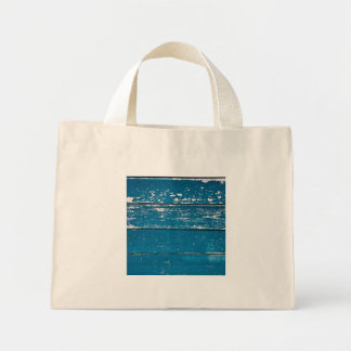 Madera azul vieja bolsa tela pequeña