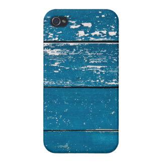 Madera azul vieja iPhone 4/4S carcasa