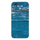 Madera azul vieja iPhone 5 carcasas