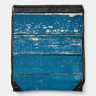 Madera azul vieja mochila