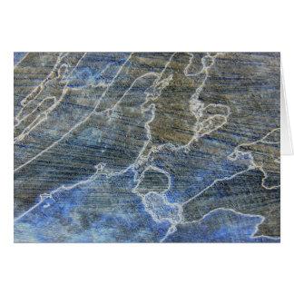 Madera azul y gris felicitaciones