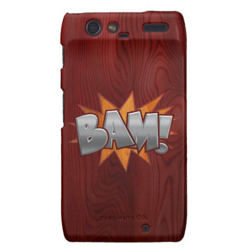 Madera Bam Motorola Droid RAZR Funda