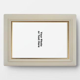 Madera blanca de la laca con el marco del accesori placa de plastico