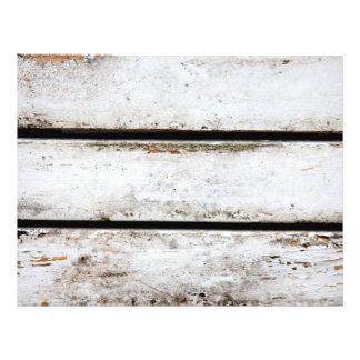 "Madera blanca vieja folleto 8.5"" x 11"""