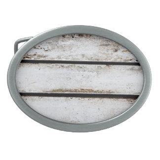 Madera blanca vieja hebillas de cinturon