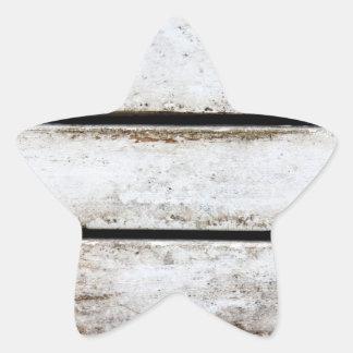 Madera blanca vieja pegatina en forma de estrella