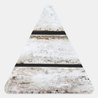 Madera blanca vieja pegatina triangular