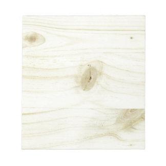 madera bloc de notas