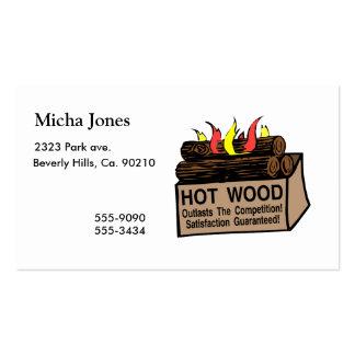 Madera caliente garantizada tarjeta de visita