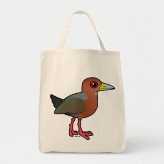 Madera-Carril Rufo-necked de Birdorable Bolsa Tela Para La Compra