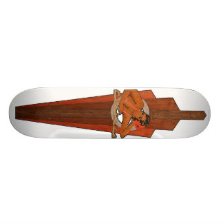 "madera clásica patineta 7 1/4"""
