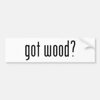 ¿madera conseguida? etiqueta de parachoque