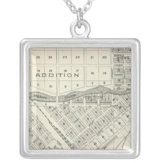 Madera County, California 3 Square Pendant Necklace