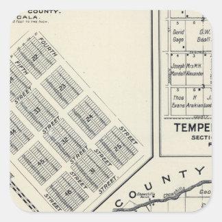 Madera County, California 3 Square Sticker
