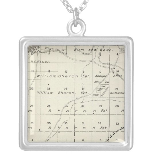 Madera County, California 5 Silver Plated Necklace