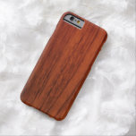 Madera de caoba funda de iPhone 6 barely there